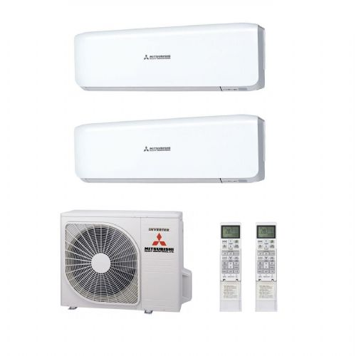 Mitsubishi Heavy Industries Air Conditioning SCM45ZS-S Multi 2 x SRK25ZS-S Wall Mounted A 240V~50Hz